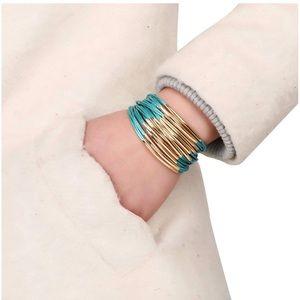 Jewelry - Turquoise & Gold Magnetic Clasp Bangle Bracelet